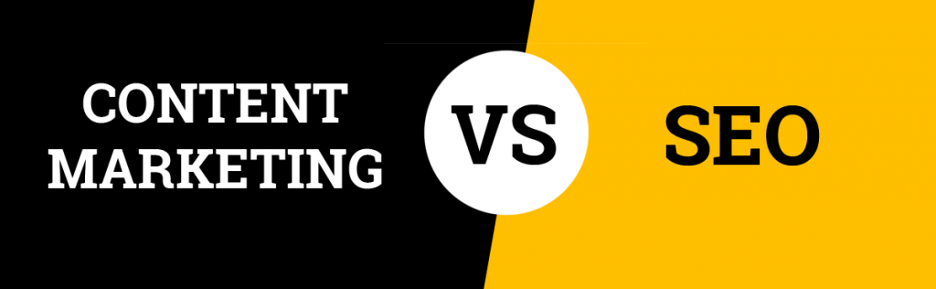 Difference between SEO and content marketing