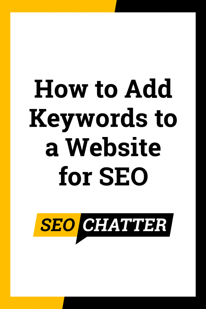 How to add keywords to a website for SEO