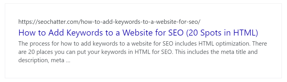 How to add keywords to website HTML meta title