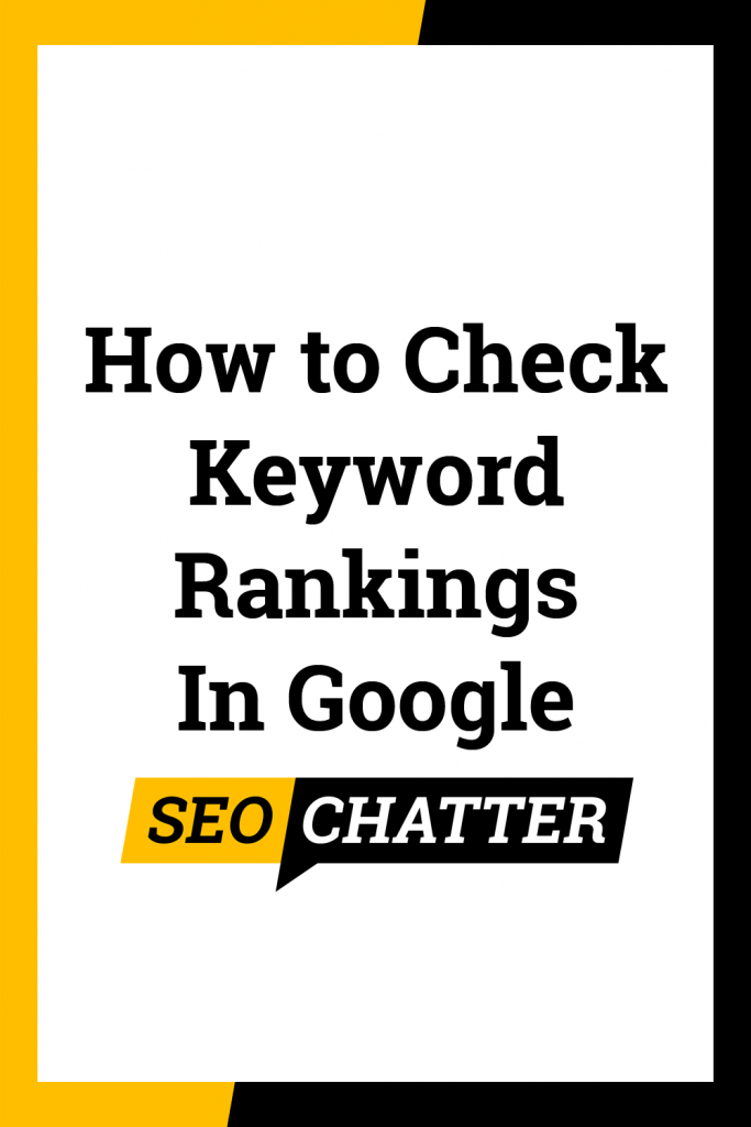 How to check keyword ranking in Google