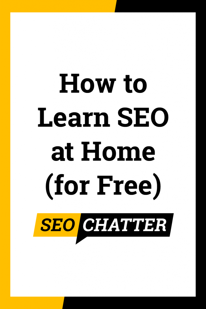 How to Learn SEO at Home