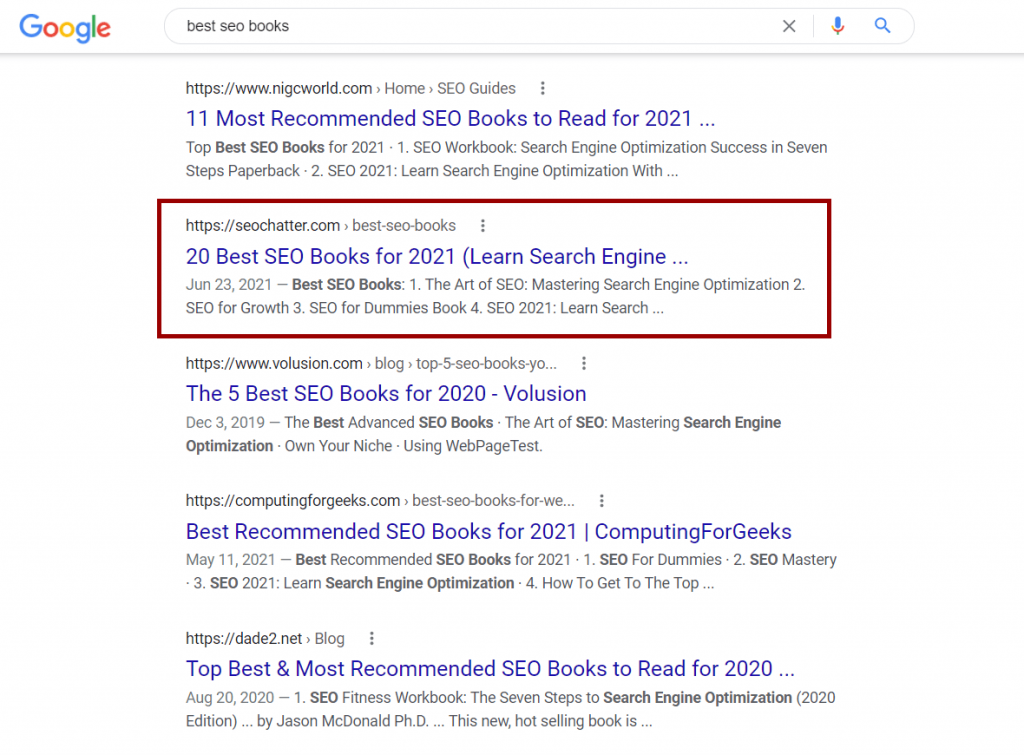 What is SEO Example