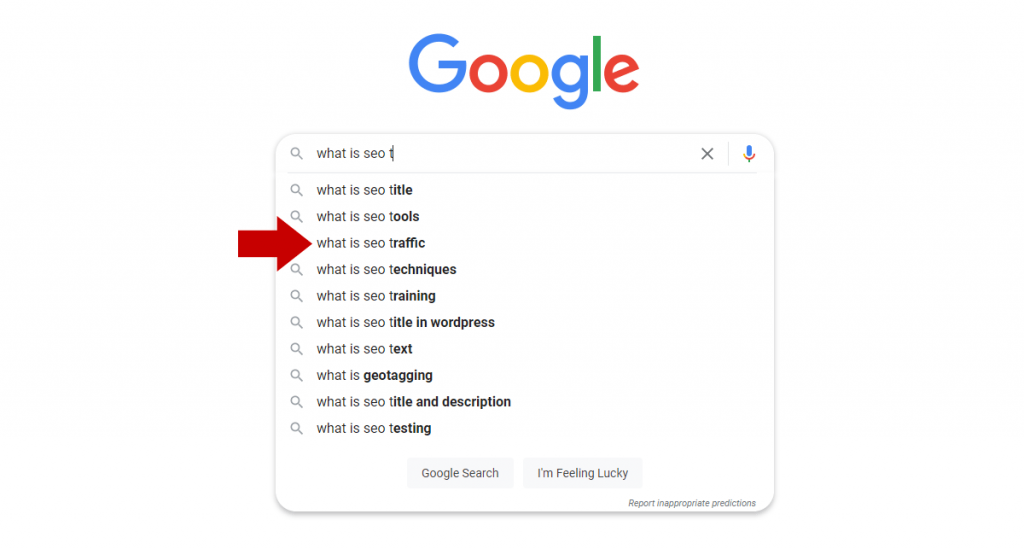 SEO traffic search results