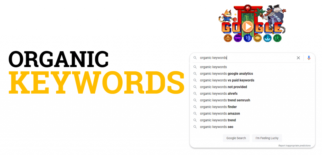 What are organic keywords