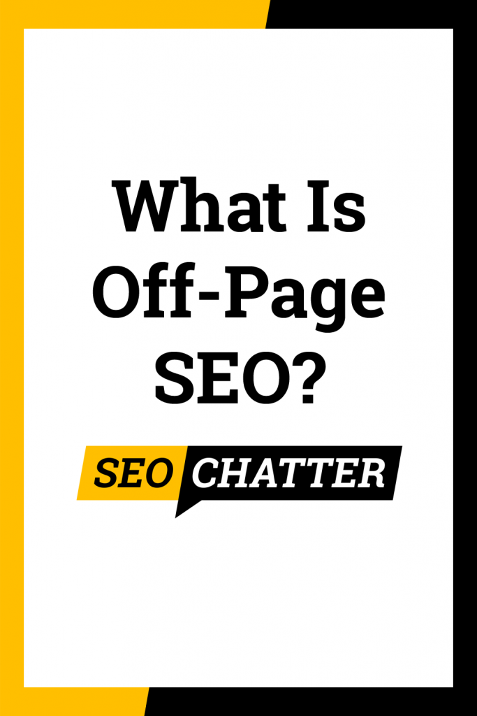 What is off-page optimization in SEO
