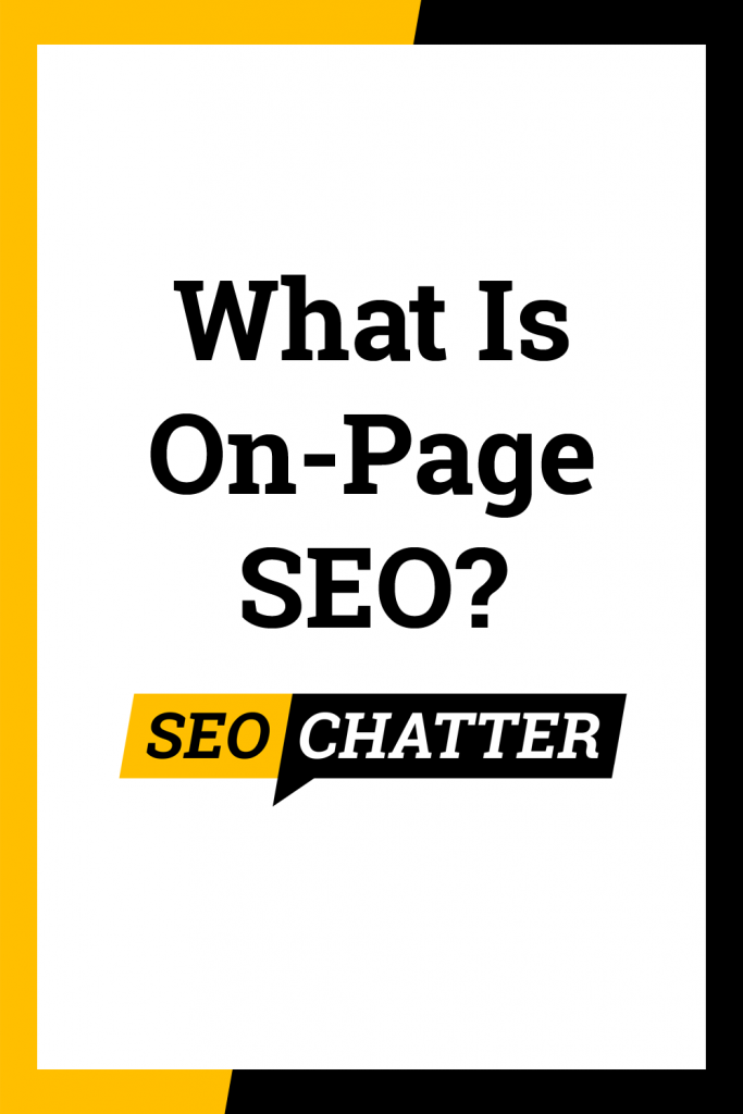 What is on-page optimization